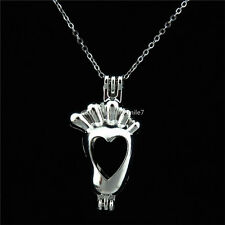 KK10 Silver Perfume - Baby Foot Locket Necklace Bead Pearl Cage Pendant
