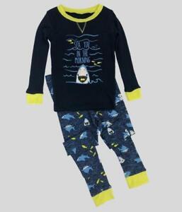 Boys Childrens Shark or Digger Snug Fit PJ Pyjamas Sleep Set Sizes Age 2-7 Years