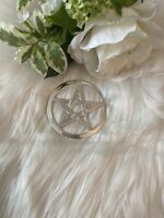 "2"" Pentagram Altar Tile, Silver (Wicca Pagan Pentacle) (New)"