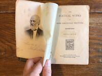 John Greenleaf Whittier Illustrated Complete Poetical Works Rare Antique 1891