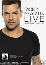 "RICKY MARTIN ""LIVE AUSTRALIAN TOUR 2013"" CONCERT POSTER-Pop,Latin/Urban Pop,Rock"