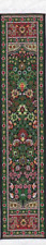 Dollhouse Miniature Narrow Carpet Rug Runner Green & Red 1:12 Scale