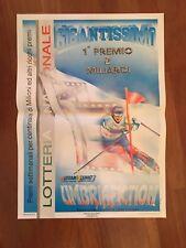 POSTER MANIFESTO  1993,LOTTERIA NAZIONALE,GIGANTE SCI SKI SPORT  TOMBA TONALE