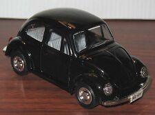 Vintage VW BEETLE Big Black Diecast Metal Car FRICTION TOY Rare! MINT Shackman