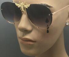 Big Oversize Bee Rivet Pilot Aviator Summer Celebrity Stunna Shades Sunglasses