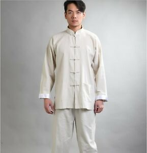 Handsome Chinese style men's kung fu suit SZ: S-XXXL