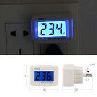 AC 110V-300V 120V 230V LCD Digital Voltmeter Plug-in Home Voltage Meter Monitor
