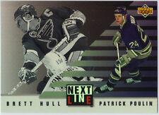 BRETT HULL-PATRICK POULIN  1993-94 UD NEXT IN LINE #NL2