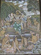 Peinture indonésienne Bali signé painting from bali indonesian art diater batuan