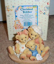 Cherished Teddies Penny, Chandler & Boots 1998 Adoption Center Exclusive