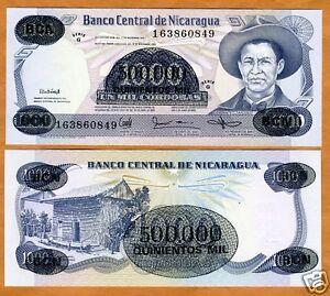 Nicaragua, 500,000 on 1000 Cordobas, 1987, P-150, UNC