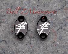 Hayabusa Black/Silver Contrast Engraved Mastercylinder Reservoir Clamps 99-07-17