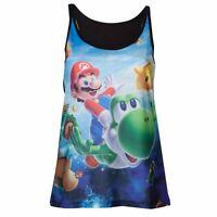 Ladies Super Mario Galaxy and Yoshi Vest Top - Nintendo Womens Tee