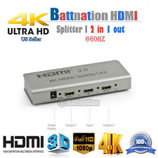 HDMI 2.0 Splitter 1X2 support 3D/1080p 4KX2K@60HZ, 1in-2out,HDCP 2.2,Support CEC