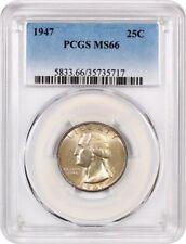 1947 25c PCGS MS66 - Washington Quarter