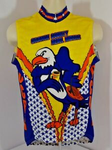 VTG Voler Cycling Shirt Bike Bald Eagle Orange County Rebel Riders Mens M USA