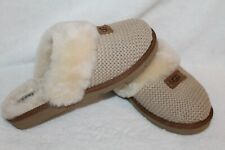 NIB UGG Women's Sweater Cozy Knit Slippers Cream US 8 9 10 11 12