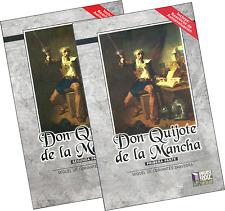 DON QUIJOTE DE LA MANCHA, DE CERVANTES, EN DOS TOMOS, EN ESPAÑOL