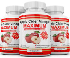 3 x APPLE CIDER VINEGAR Pills 3000mg RAPID FAST WEIGHT LOSS 180 CAPSULES USA