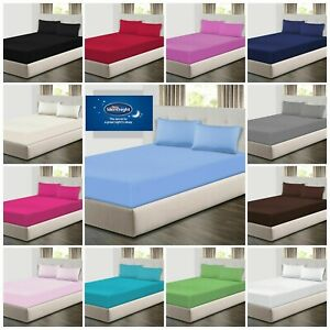 Silentnight Supersoft Cotton Fitted Bed Sheet Bed Linen Sizes Single Double King