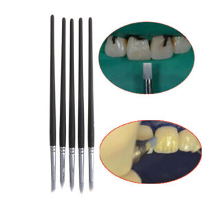 5pcs Dental Adhesive Composite Cement Porcelain Teeth Silicone Brush Pen To Zh