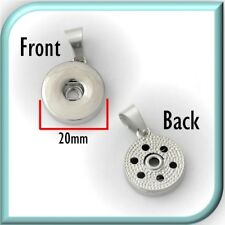 (Buy 4, pay for 2) 20mm Snap Button Charm Pendant Base (for 16 to 20+mm charms)