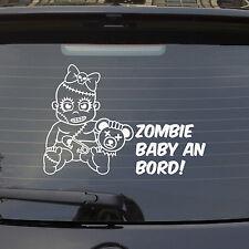 Auto Aufkleber ZOMBIE BABY an Bord on Tour LUSTIG Mädchen Girl Sticker 1122