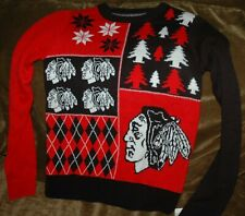 Chicago Blackhawks Christmas sweater YOUTH medium 10-12  NEW with Tags! NHL