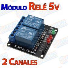Modulo Rele 5v 2 canales 10A 250v activo nivel bajo - Arduino Electronica DIY
