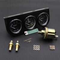 "2"" Triple Gauge Kit 3in1 Water Temp Meter Oil Temperature Oil Pressure Car Meter"
