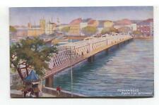Pernambuco, Brazil - Ponte 7 de Setembro - old Tuck shipping line postcard
