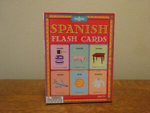 Spanish Visual Flash Cards, Easy To Learn! Spanish On One Side English On Other