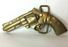 Vintage brass Belt buckle by Fairyland buckles Cowboy Western Theme 10 x 6 cm