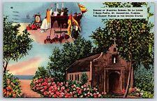 Shrine of Nuestra Senora De La Leche in St. Augustine, Florida Linen Postcard