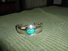 Joseph Esposito Sterling Silver Cuff Bracelet with Turquoise stone