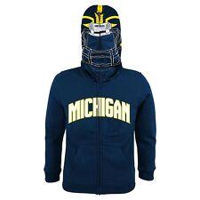 NWT NIP MICHIGAN hoodie sweatshirt football boy BLUE XL 20 COSTUME JACKET $50