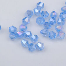 300pcs light blue ab exquisite Glass Crystal 4mm #5301 Bicone Beads loose beads!