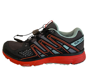 Salomon X-Mission 3 Trail Hiking Running Shoes Women's Size 8 Black/Gray/Red