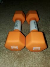 8LB Neoprene Hex Dumbbell Hand Weight. TOTAL WEIGHT 16 LBS  FAST FREE  SHIP