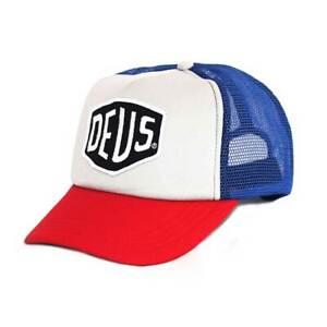 Deus Ex Machina Baylands Trucker Cap - Red / Blue