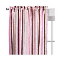 One Bacati - Mod Stripes Curtain Panel 42 X 84 Inches 100% Cotton Percale New