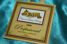 La Bella Professional HighTension Silver Plated Classical Guitar Strings, 10Ph