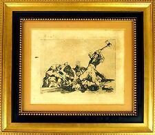 ENGRAVING. THE SAME (DISASTERS SERIES). FRANCISCO DE GOYA. 1863 (?). SPAIN.