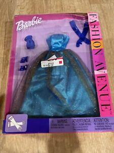 barbie fashion avenue clothes Blue Dress Gloves Shoes New
