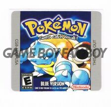 Pokemon Blue Gameboy Replacement Label Sticker Precut Glossy Laminated USA decal