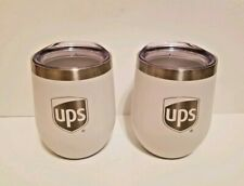 UPS United Parcel Service logo wine tumblers white stainless steel GIFT