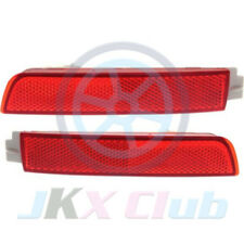 1 Pair Red Lens Bumper Reflector Tail Brake Lights H For Nissan Sentra 2012-2018
