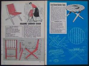 PICNIC TABLE & Folding Garden Chair How-To build PLANS