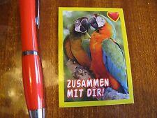 Sticker Papagai Papagaienpaar Liebe Freundschaft Valentin Vogel Kuss