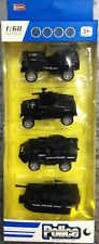 4 pcs Police 1:60  Pull Back Cars Die Cast Go Vehicles Toy Kids Xmas Gift UK